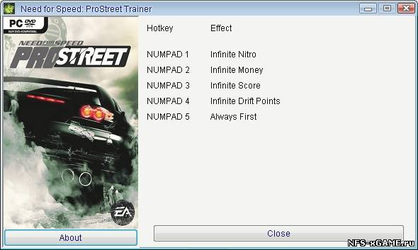 Need for Speed ProStreet: Все коды - Читы - чит коды, nocd, nodvd, трейнер,
